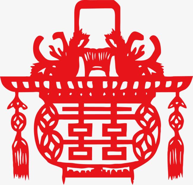 元宵春节剪纸灯笼素材图片免费下载 高清装饰图案psd 千库网 图片编号97307