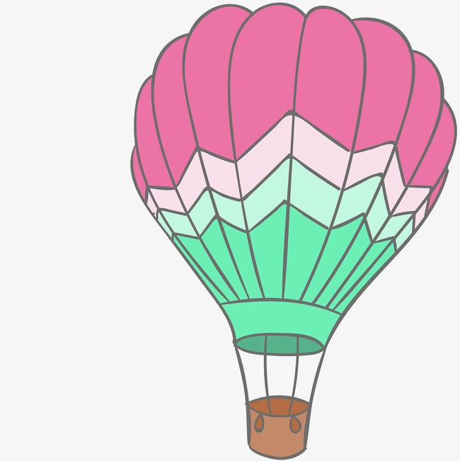 手绘装饰热气球插画素材