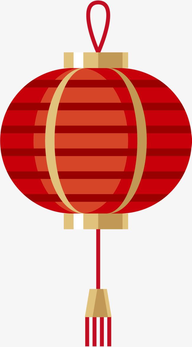 红色椭圆形矢量灯笼符号