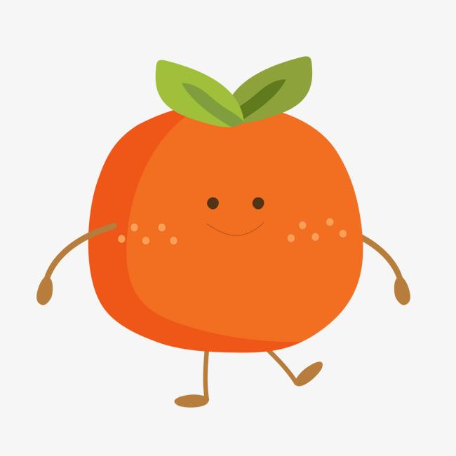 卡通可爱的橙子标签设计图片