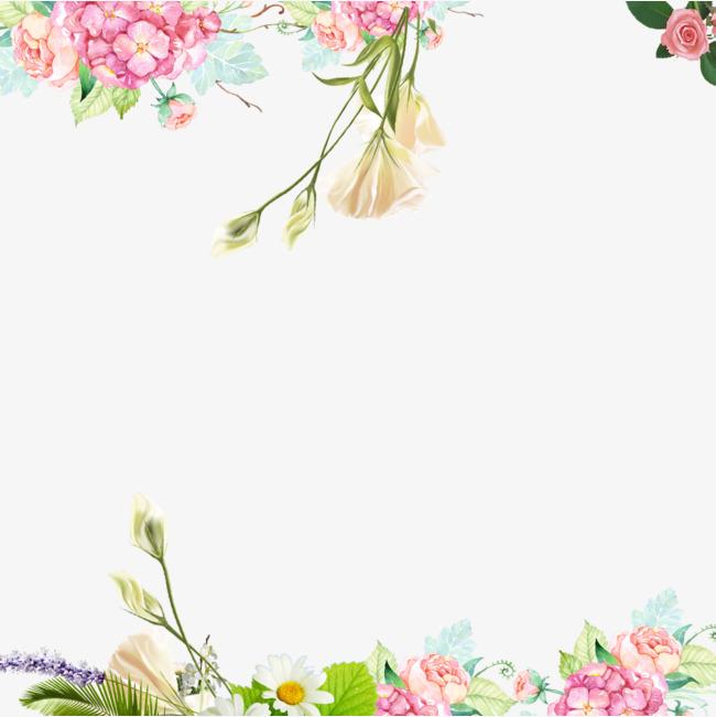 小清新植物装饰海报设计图片