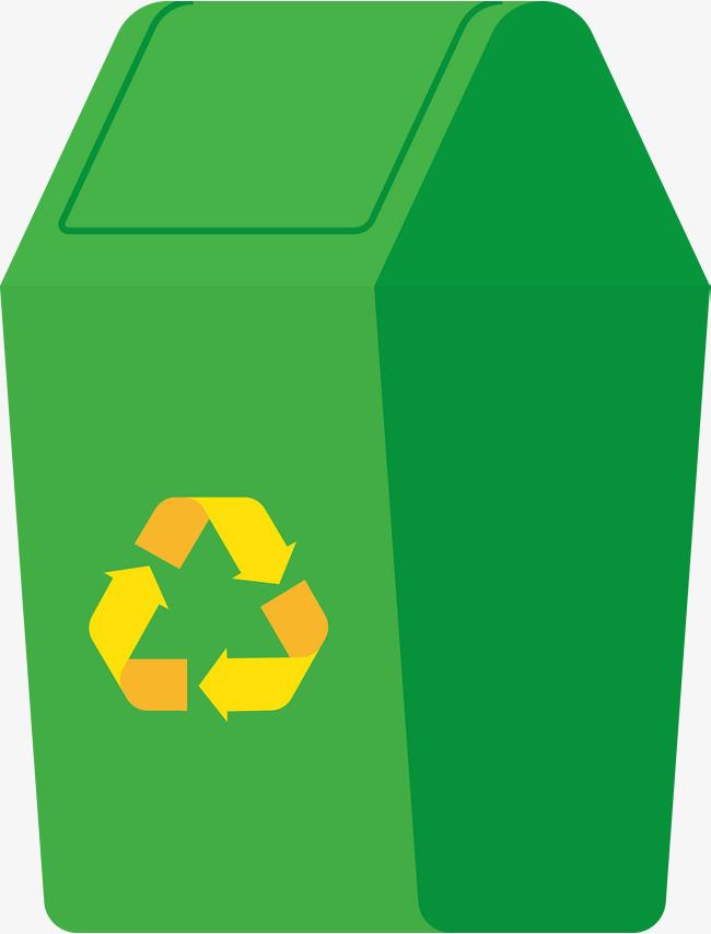 循环绿色垃圾桶图图片