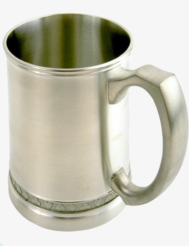 欧式复古金属杯子矢量