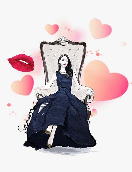 38女王节卡通手绘手绘女人