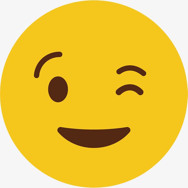 黄色可爱圆脸矢量得意表情