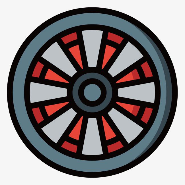 灰色手绘圆形轮胎