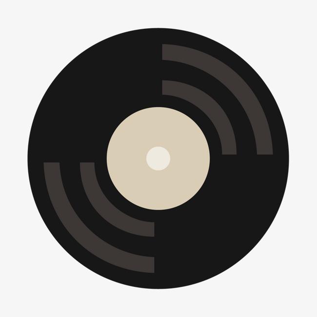 黑色 扁平化矢量图 圆形 纹理 光泽 质感 音乐 cd 科技png免费下载