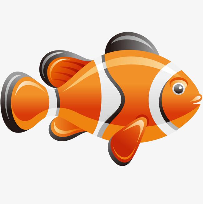 卡通可爱的小丑鱼动物设计