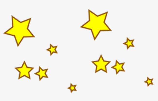 卡通手绘黄色装饰星星