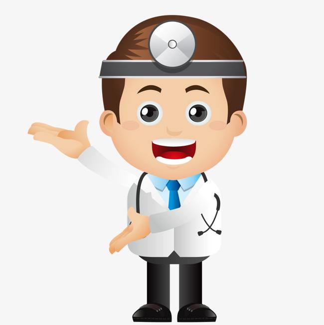 做介绍的男性医生人物图片