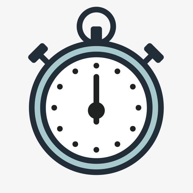 灰色手绘线稿时间钟表元素