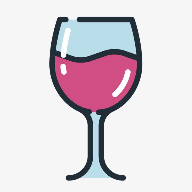彩色手绘酒杯元素png素材下载_高清图片png格式(编号