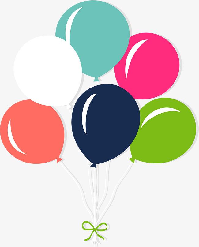 卡通漂浮气球矢量图案图片