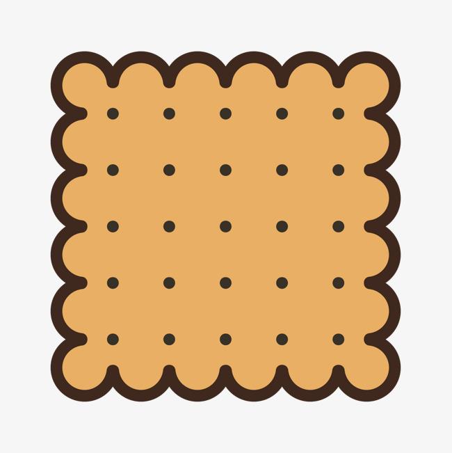 彩色手绘线稿饼干元素图片