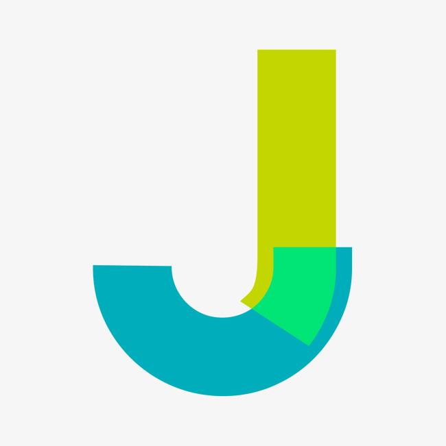 绿色拼色英文字母j_艺术字设计_千库网图片