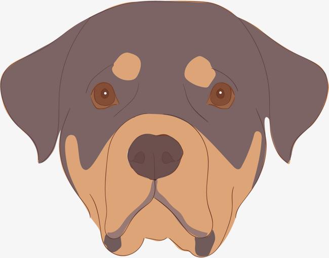 矢量图 个性 卡通 彩色 手绘 小狗头 创意 商务免扣素材