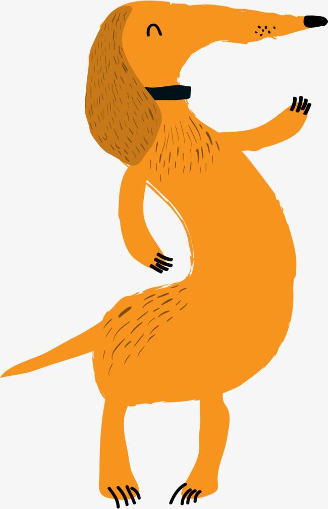 罗马数5卡通搞怪动物设计数字矢量素材