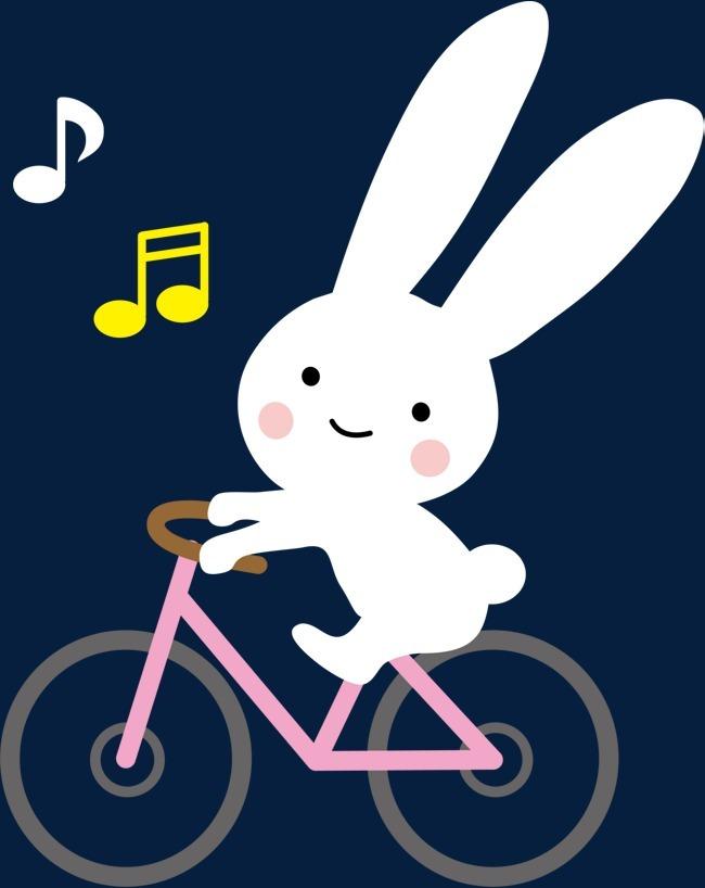 小兔子 春季 春天 春日 自然 单车 音乐 小动物免扣素材