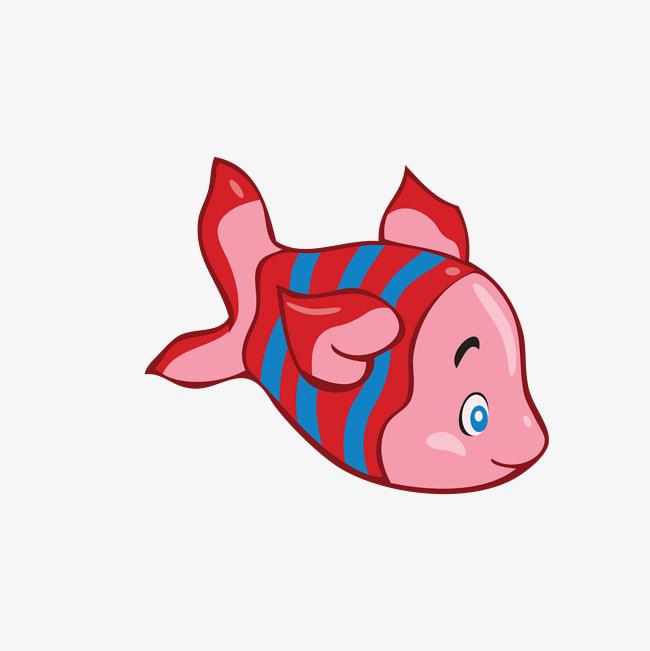 矢量手绘动物小鱼儿