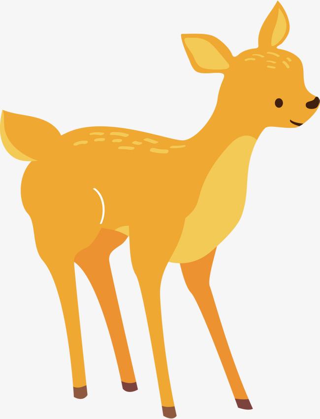 黄色可爱森林小动物