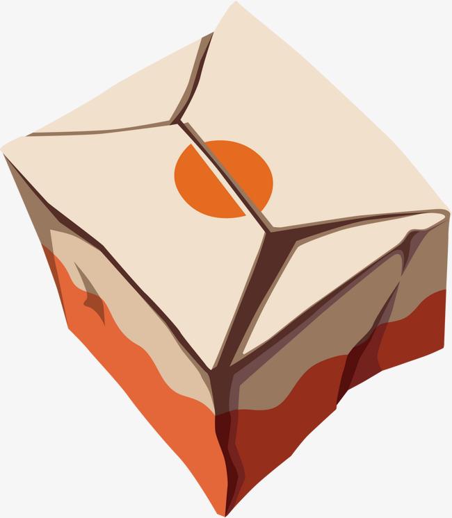 矢量图手绘正方形纸箱