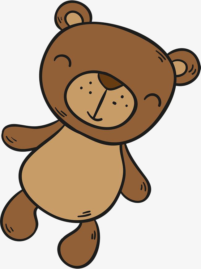 卡通棕色小熊玩偶图片