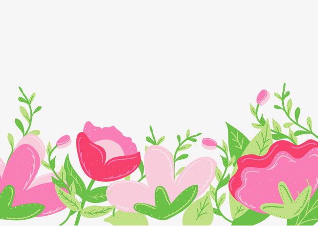 手绘花朵插画三八节女性装饰插图