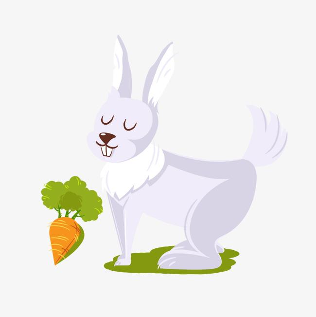白色小兔子背景装饰