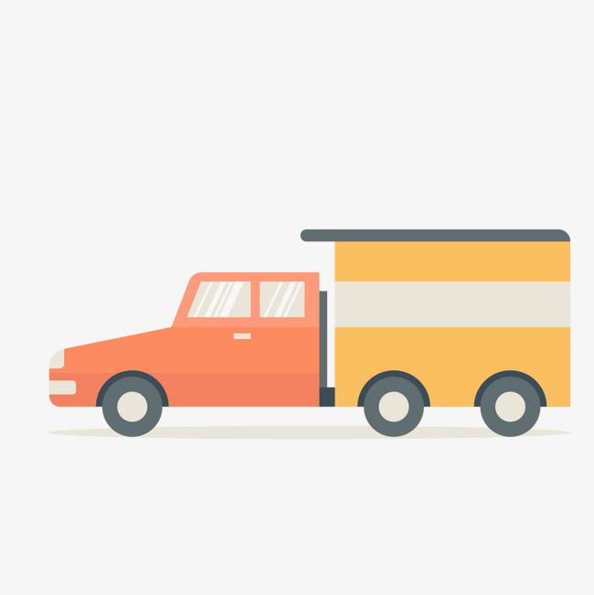 卡通小货车设计矢量图图片