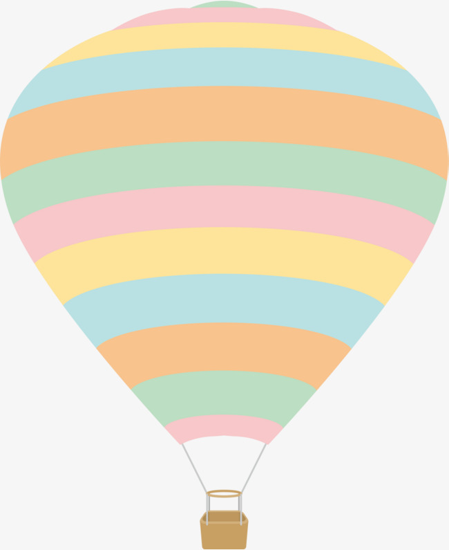 卡通彩色线条热气球图片