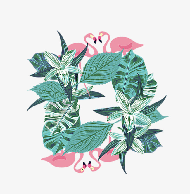 手绘草叶子装饰设计