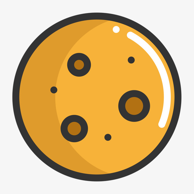 黄色手绘饼干食物卡通图标图片