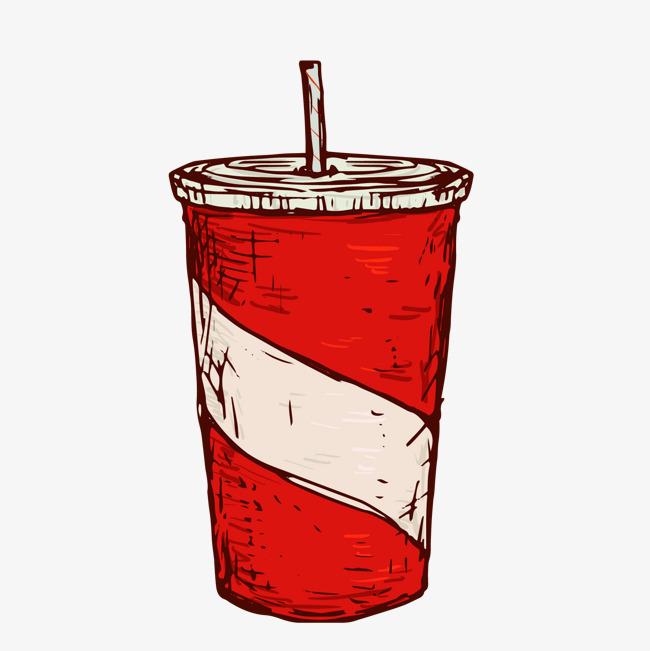 手绘彩绘矢量图可乐
