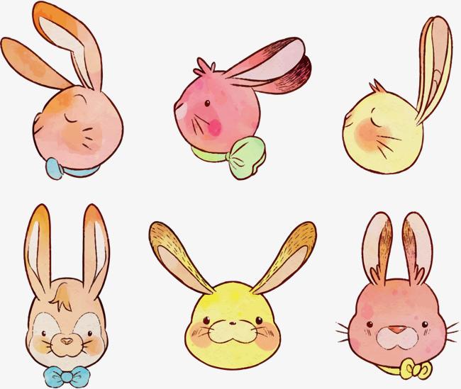 可爱复活节手绘兔子