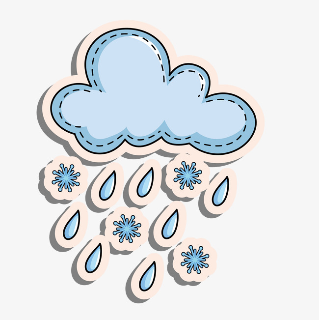 卡通多云天气装饰帖子图片