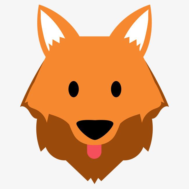 卡通可爱小动物装饰设计动物头像狗狗