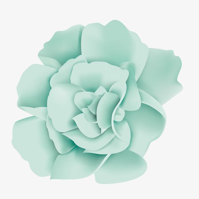 矢量手绘卡通彩色玫瑰花