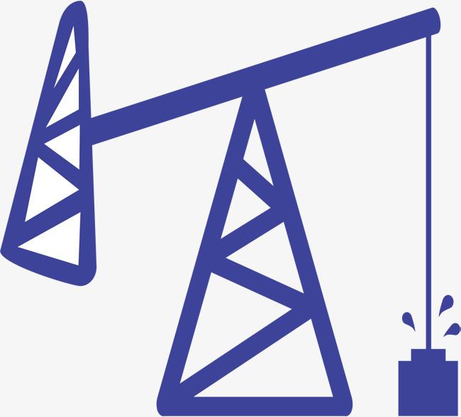 蓝色油井卡通图标图片