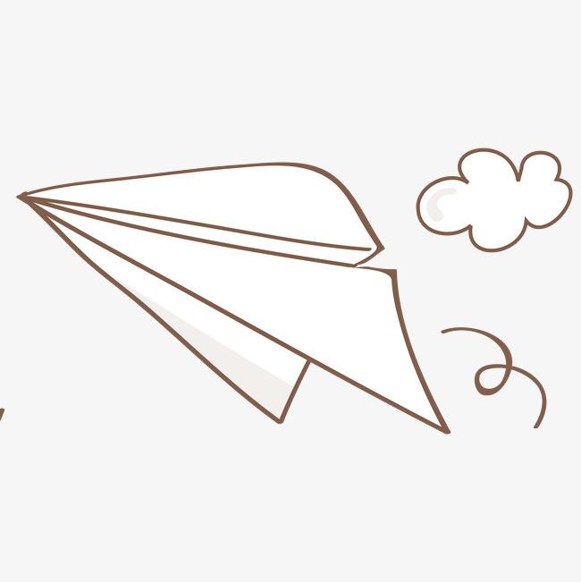 矢量手绘简笔纸飞机png素材下载_高清图片png格式(:)