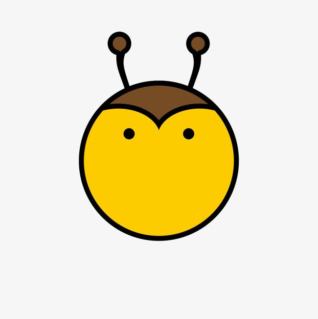 黄色手绘蜜蜂卡通图标