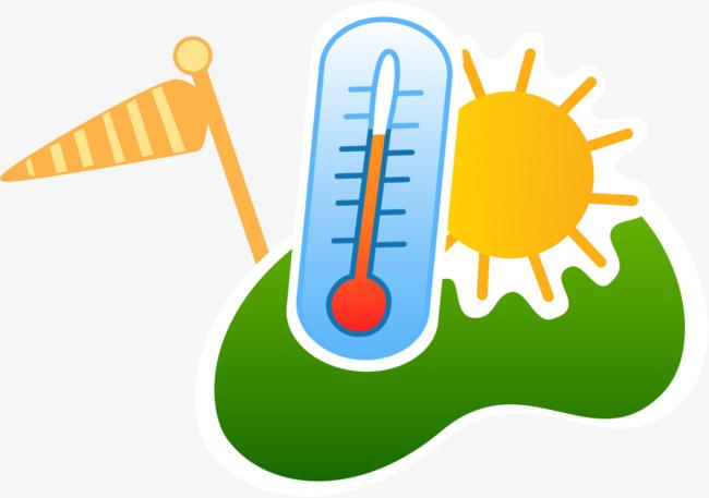 卡通炎热夏日温度计图片
