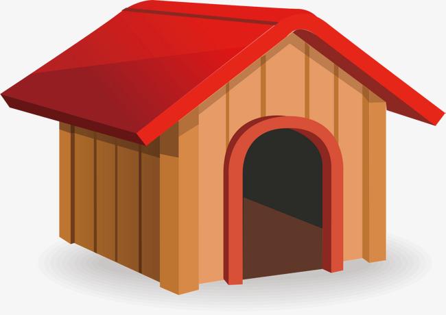 矢量手绘木头房子