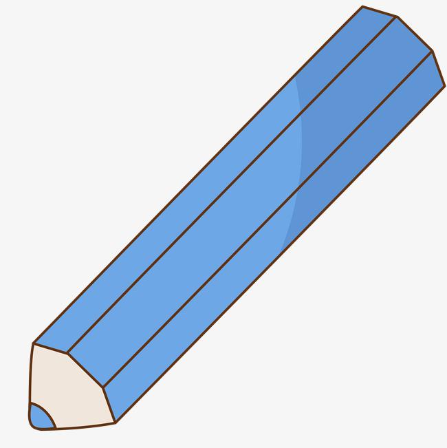 一只手绘蓝色的铅笔