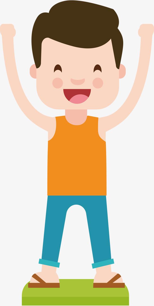 微笑的小男孩头像设计