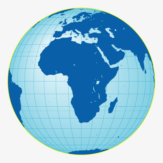 蓝色彩绘风格地球经纬线特写矢量图案