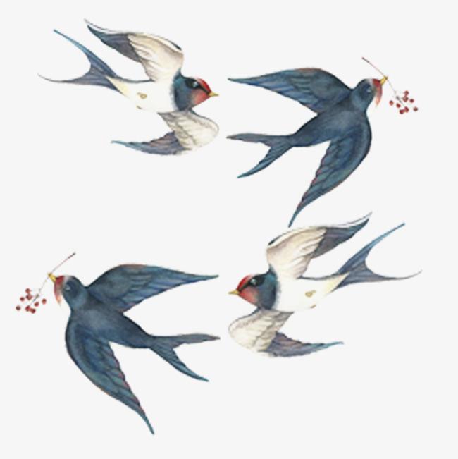 手绘装饰燕子素材