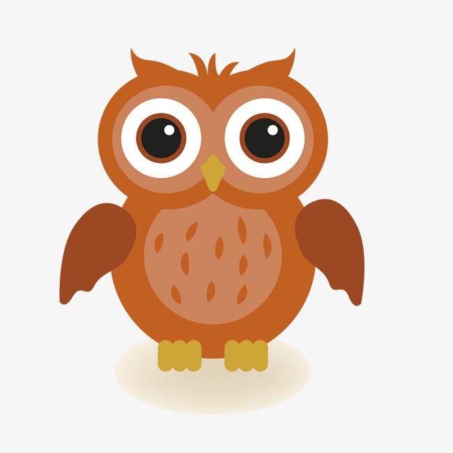 棕色时尚可爱猫头鹰
