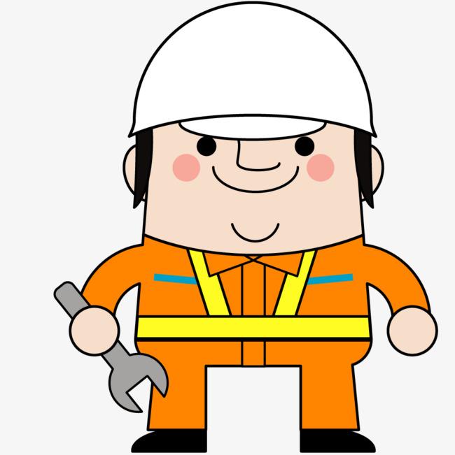 卡通版的施工工人图片