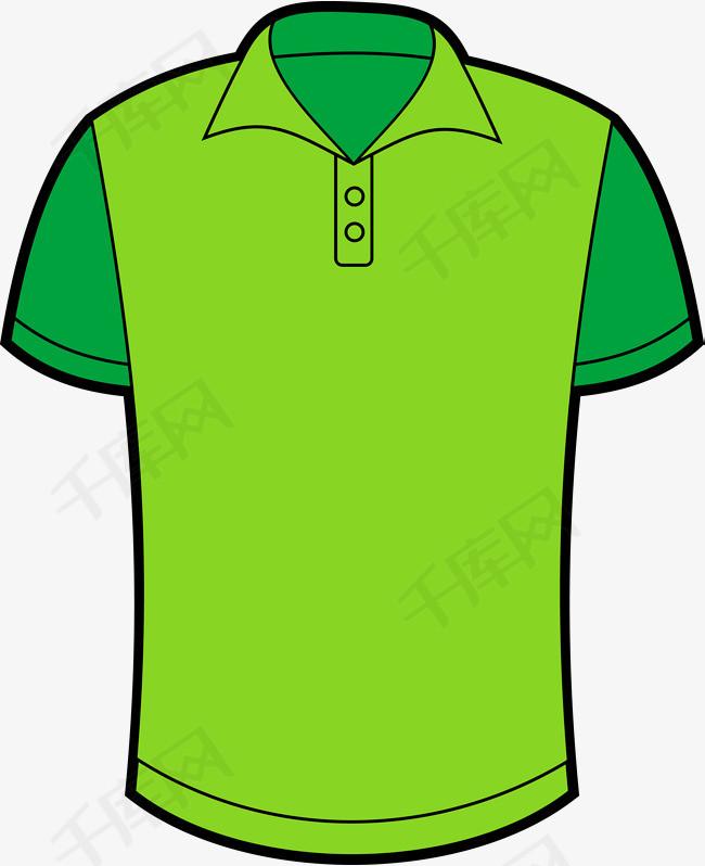 卡通绿色短袖T恤图素材图片免费下载 高清psd 千库网 图片编号10116366