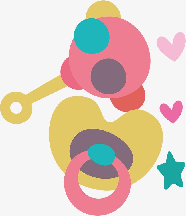千库网提供玩具奶嘴卡通可爱婴儿用品设计素材矢量免抠png素材免